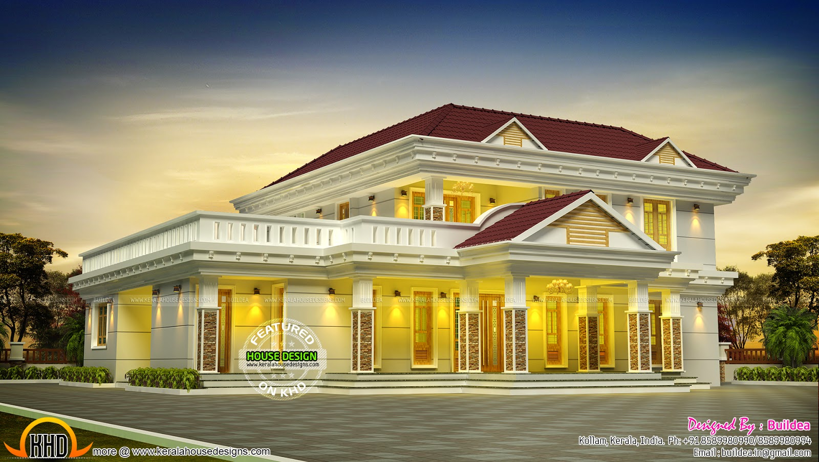 5 bhk flat roof house keralahousedesigns for 5 bhk house