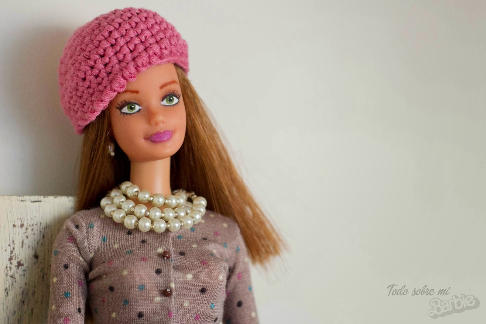 Todo sobre mi Barbie: Gorro de ganchillo, patrón para Barbie.