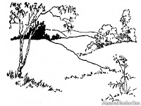 Gambar Pemandangan Alam Untuk Diwarnai
