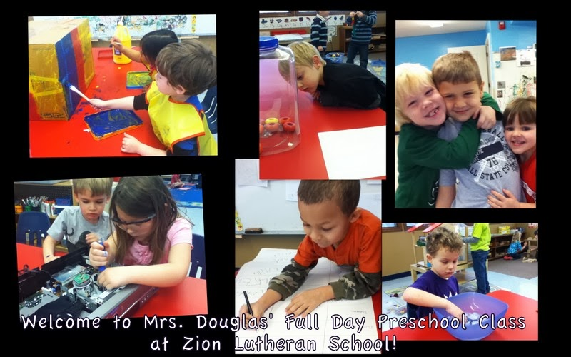 Welcome to Mrs. Douglas Full Day Preschool Class at Zion Lutheran School!