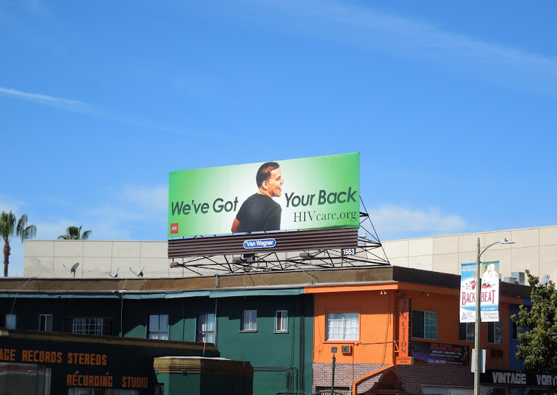 got your back HIV green billboard