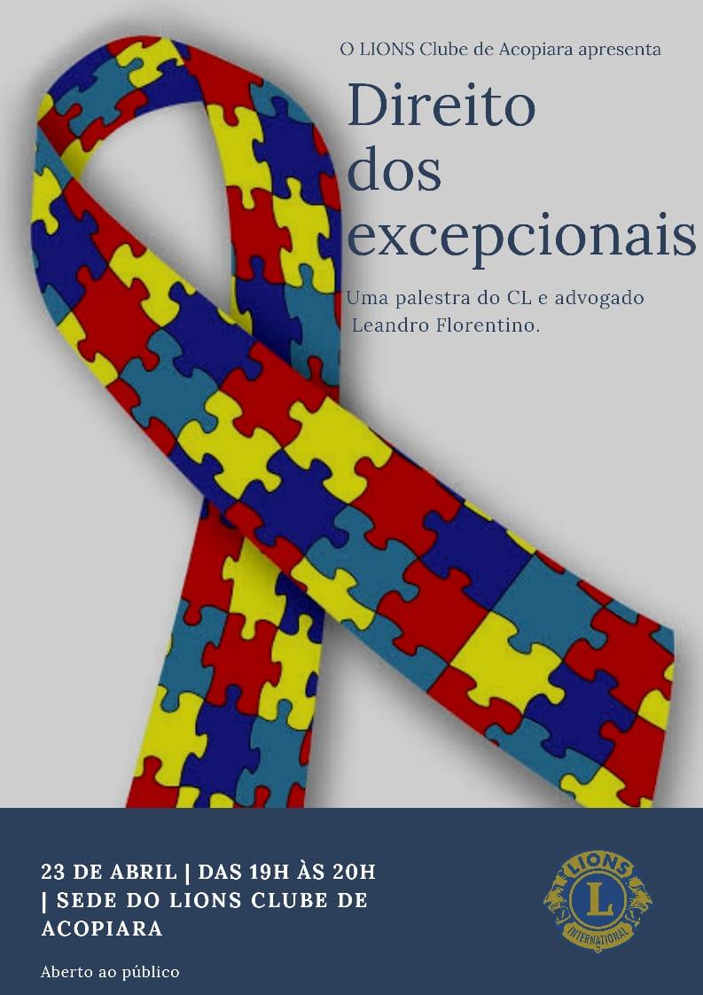 Palestra no LIONS Clube de Acopiara sobre o direito dos autistas