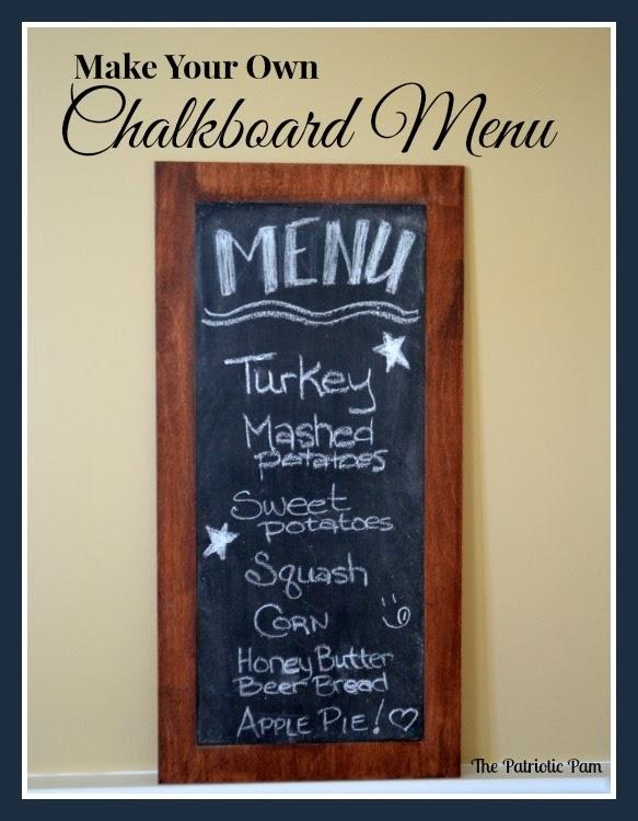 The patriotic pam diy thanksgiving day menu chalkboard diy thanksgiving day menu chalkboard solutioingenieria Choice Image