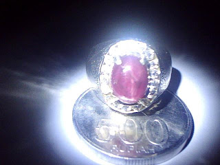 Batu Cincin Ruby Star Mozambique