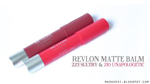Revlon Matte Balm 225 Sultry 210 Unapologetic