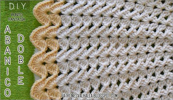 Punto Fantasía Abanico Doble a Crochet (diagrama) - PATRONES ...