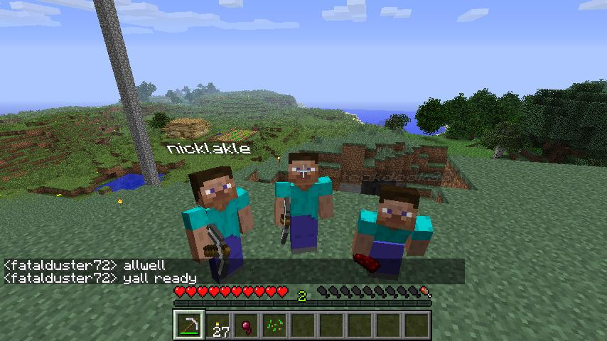 online playing minecraft