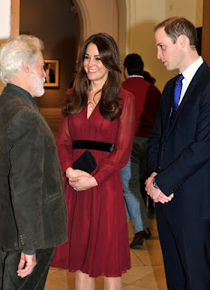 Kate Middleton and Prince william with Paul Emsley