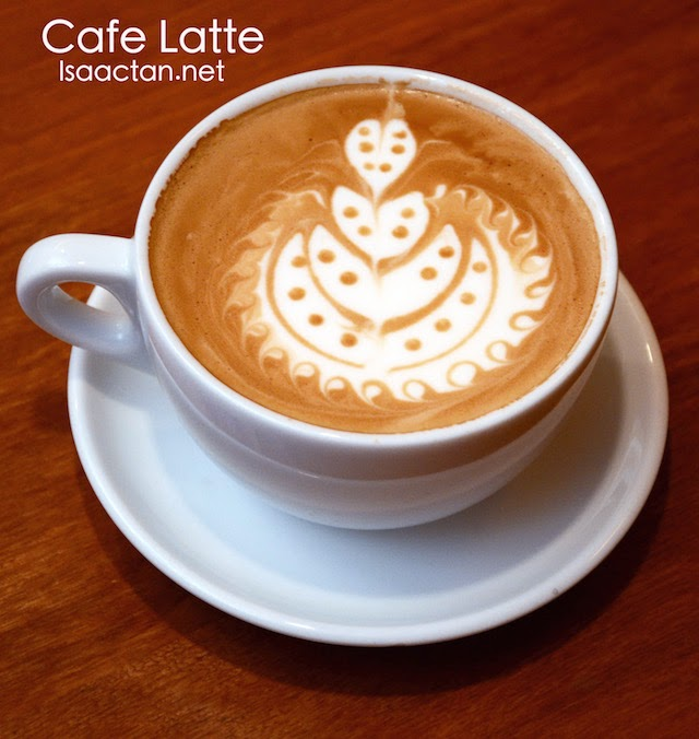 Cafe latte, comes with a choice of Mocha, Hazelnut, Caramel or Vanilla