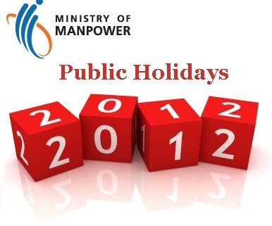 2012 Public Holidays List published by MOM