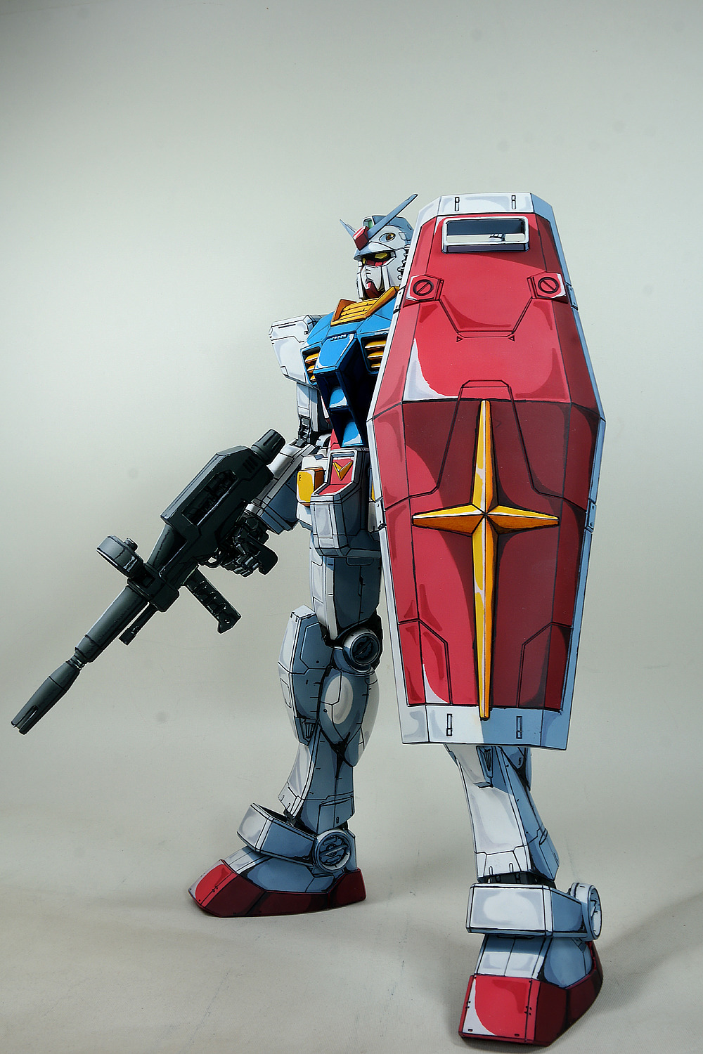 gundam guy mega size 1 48 rx 78 2 gundam u0027anime colors u0027 painted