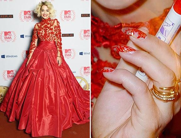 Unhas decoradas, nail art, Rita Ora