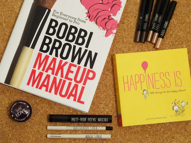 Bobbi Brown Make up Manual, Topshop Smoke Stick, topshop mascara, topshop liner, 500 things to be happy about