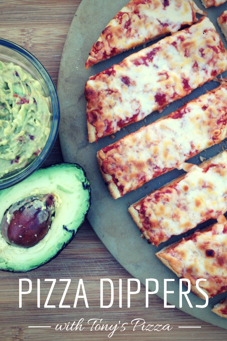 Pizza Dippers with Guacamole #tonyspizzeria #PMedia #ad
