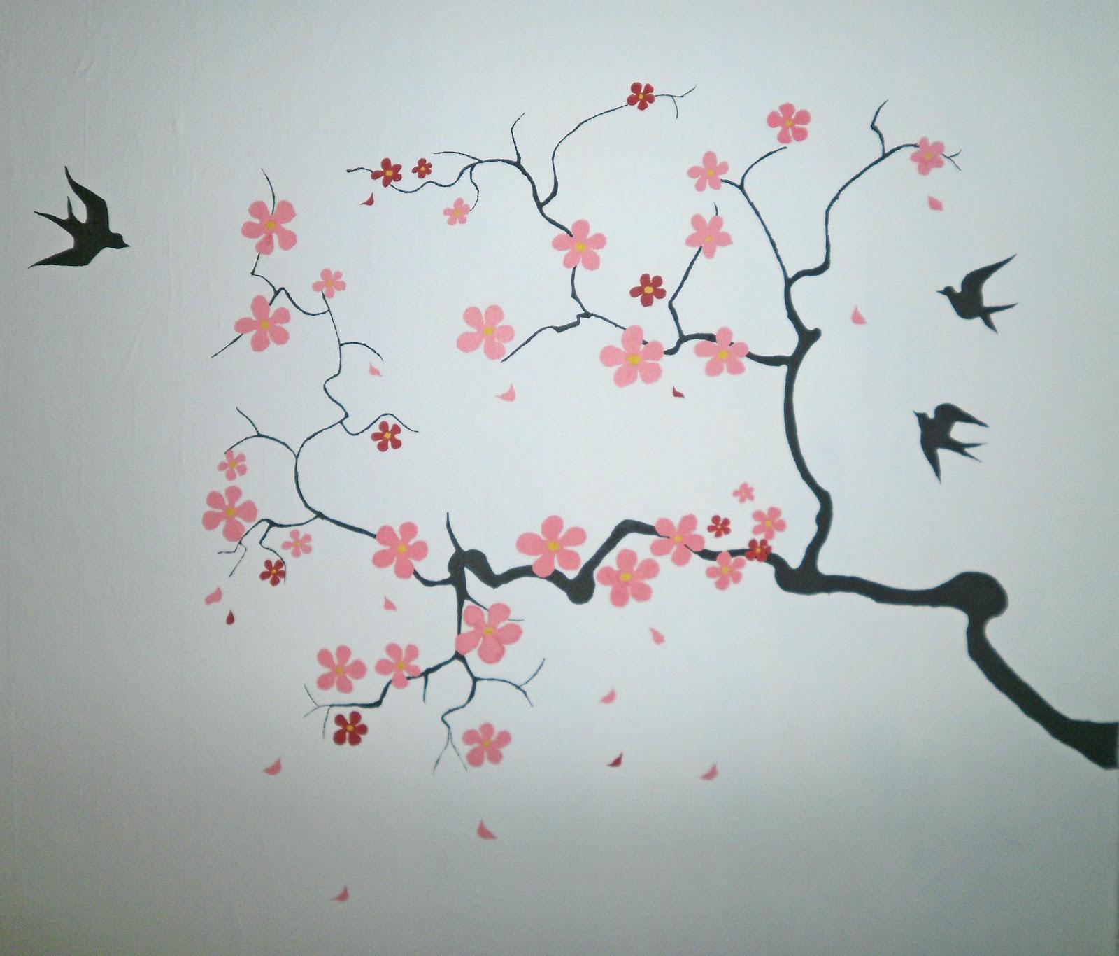 Нарисовать сакура своими руками фото 495