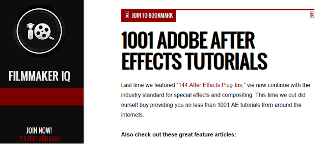 1001 Adobe After Effect Tutorial