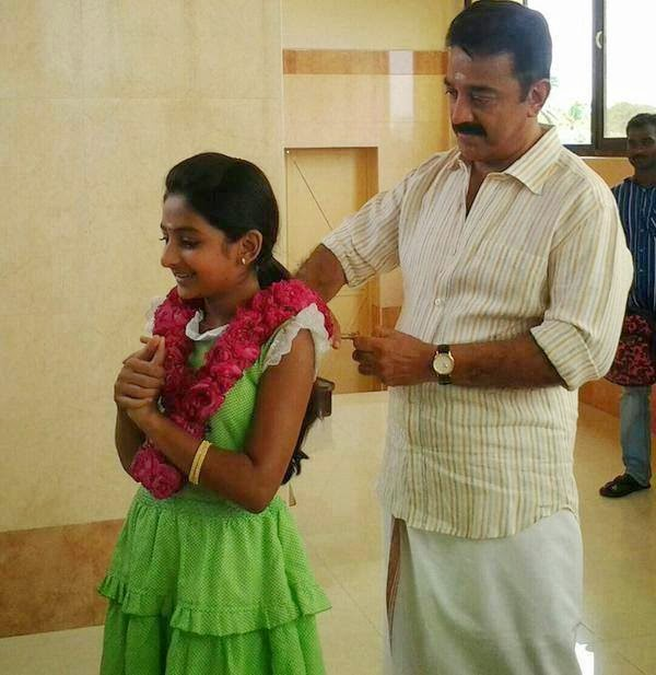Kamala Hassan with Ester in Papanasam