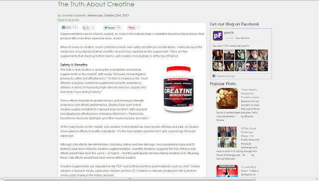 http://www.peerfit.com/blog/2013/10/the-truth-about-creatine/