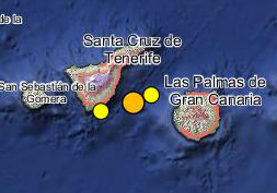 nuevo terremoto  entre gran canaria y tenerife 28 julio