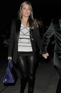 Holly Valance Tight Leather Pants