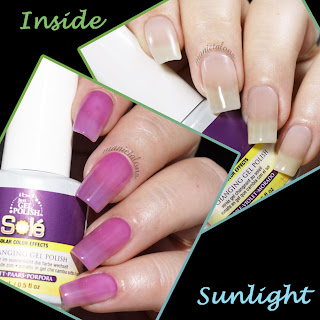 IBD Just Gel Solé Purple Swatch