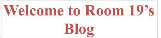 Room 19's Blog 2018