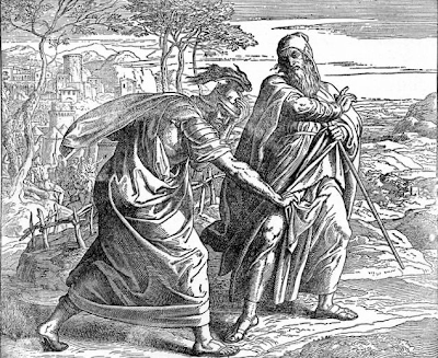 Saul tears Samuel's robe - Julius Schnorr von Carolsfeld (1851-1860)