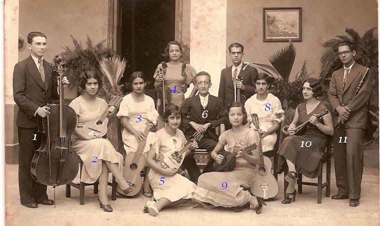 ESTUDIANTINA TRUJILLANA. Años 1940. Director Rafael María Pernalete.