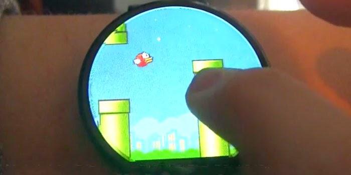 Flappy Bird on Smart Watch