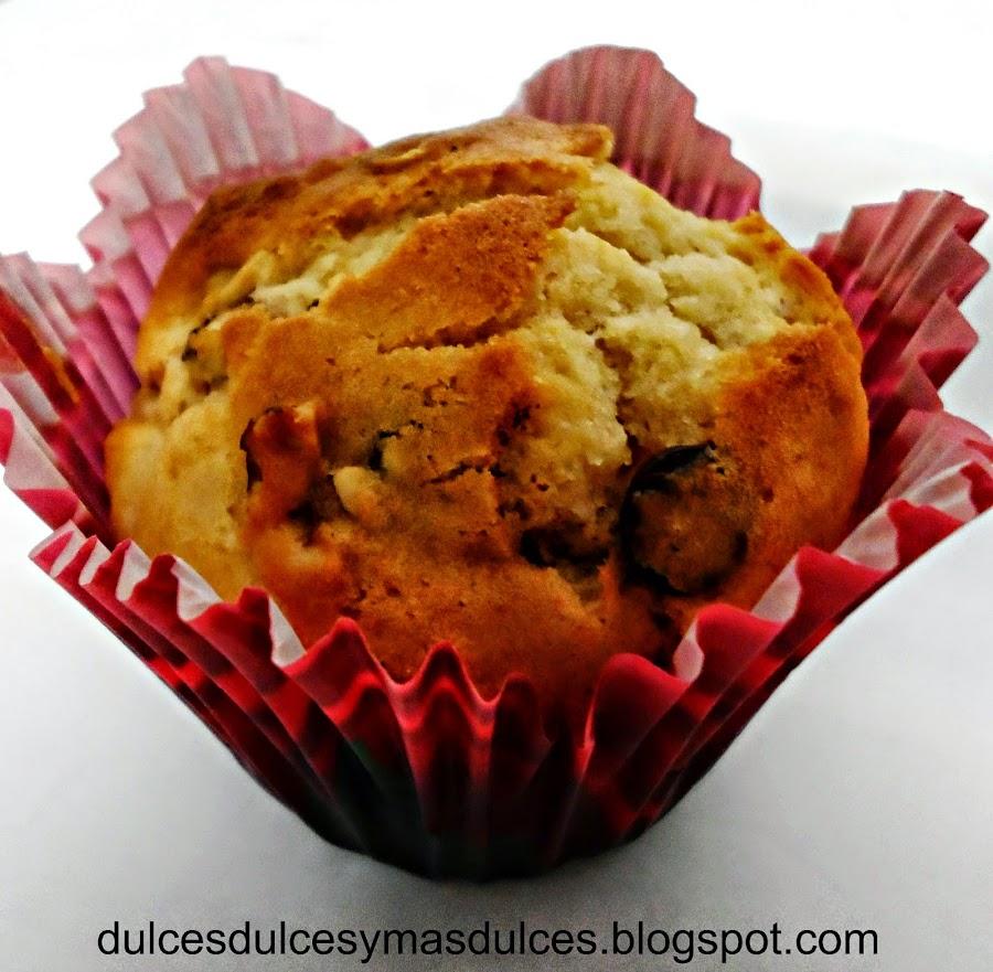 Muffins de plátano y arándanos... ¡un placer para todos los sentidos!