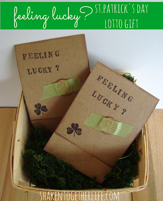 Feeling lucky? St. Patrick's Day lotto gift at shakentogetherlife.com