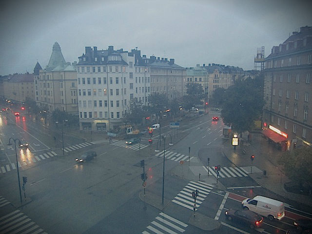 view of stockholm in rain