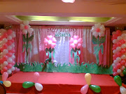 Balloons Decoration With Flower Garden. Posted by Srikanth reddy at 8:08 AM