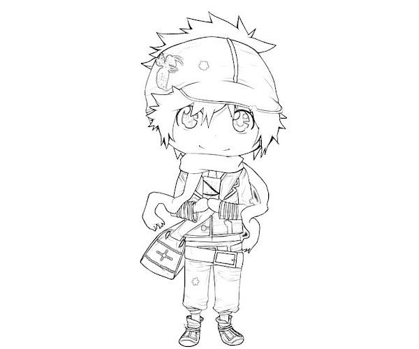 Chibi Naruto Characters Coloring Pages
