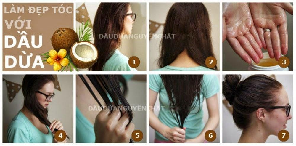 dầu dừa, công dụng của dầu dừa, dầu dừa làm đẹp da, cách làm dầu dừa, dầu dừa dưỡng tóc, dầu dừa làm mi dài