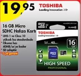 toshiba 16 gb hafıza kartı