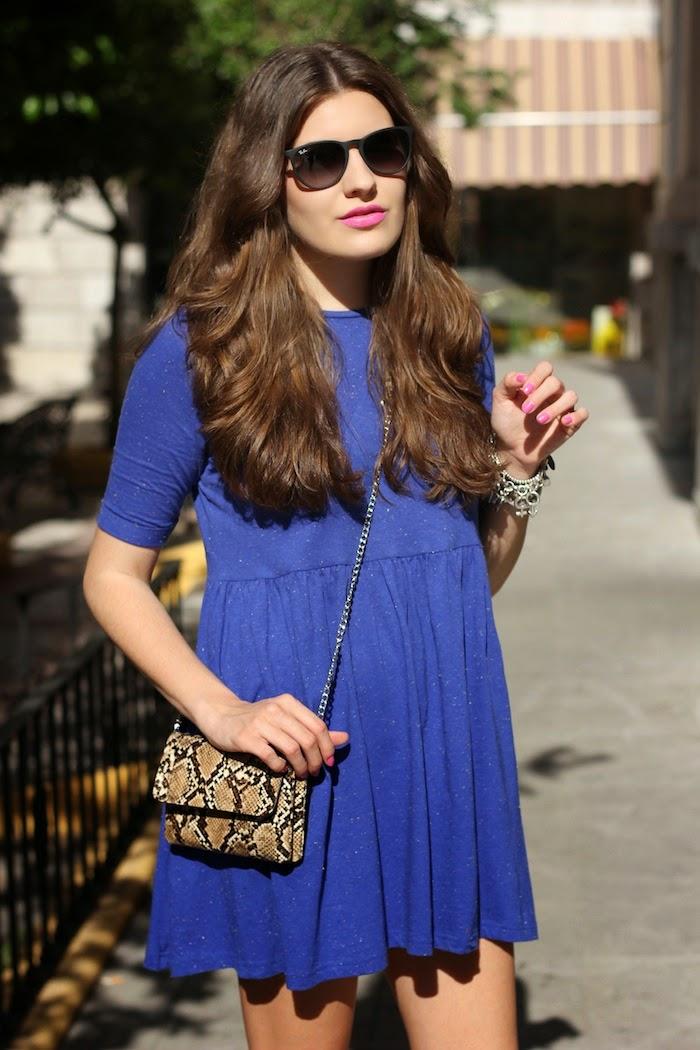 Asos_vestido_azul_dress_blue_amplio_ancho_corto_botines_pull&bear_bolso_mini_springfield_ss14_2014_rayban_lookbook_streetstyle_look_outfit_angicupcakes02