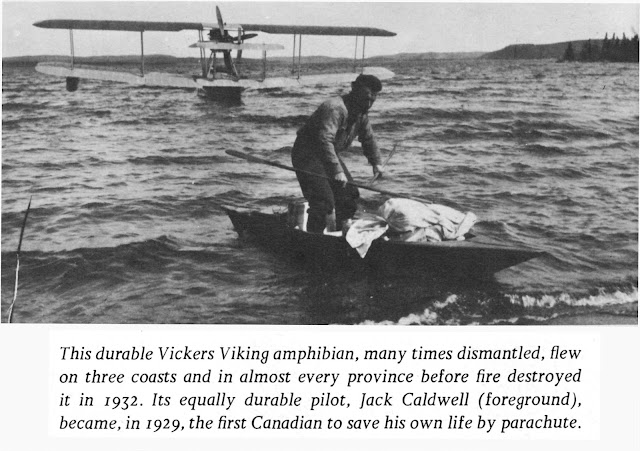 Jack Caldwell, the first Canadian to save his life by parachute in 1929