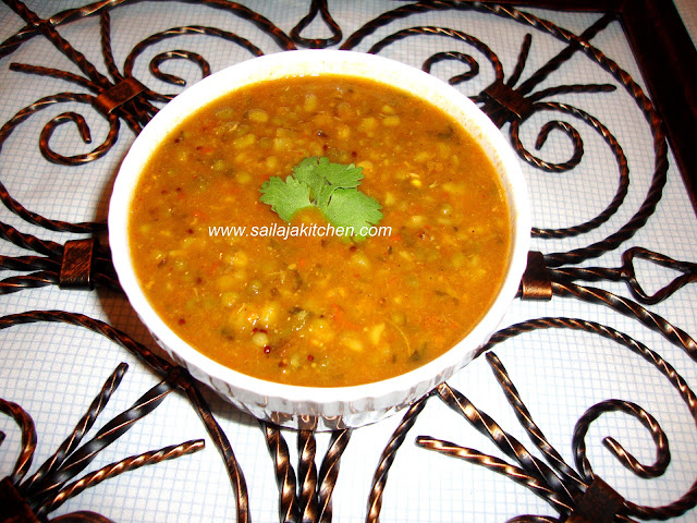 images for Green Moongh Dal Curry / Lasanwala Mug Recipe