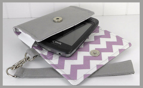The Errand Runner Cell Phone Wristlet from Kerri Ann Handmade