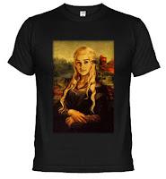 camiseta daenerys mona lisa - Juego de Tronos en los siete reinos