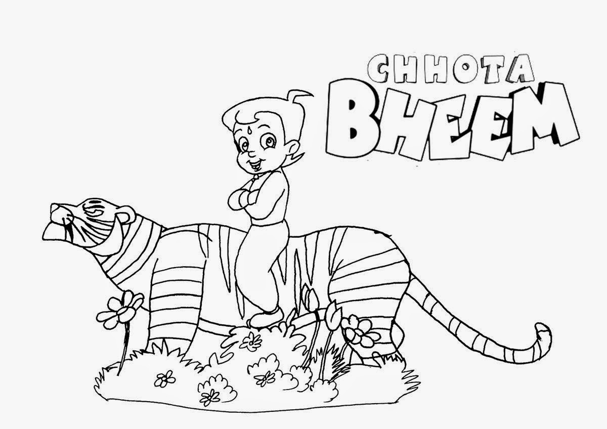 chhota bheem coloring pages - photo#34