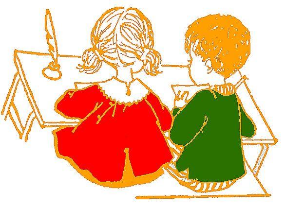 Apprendre a dessiner a l ecole primaire - Bureau pour deux enfants ...
