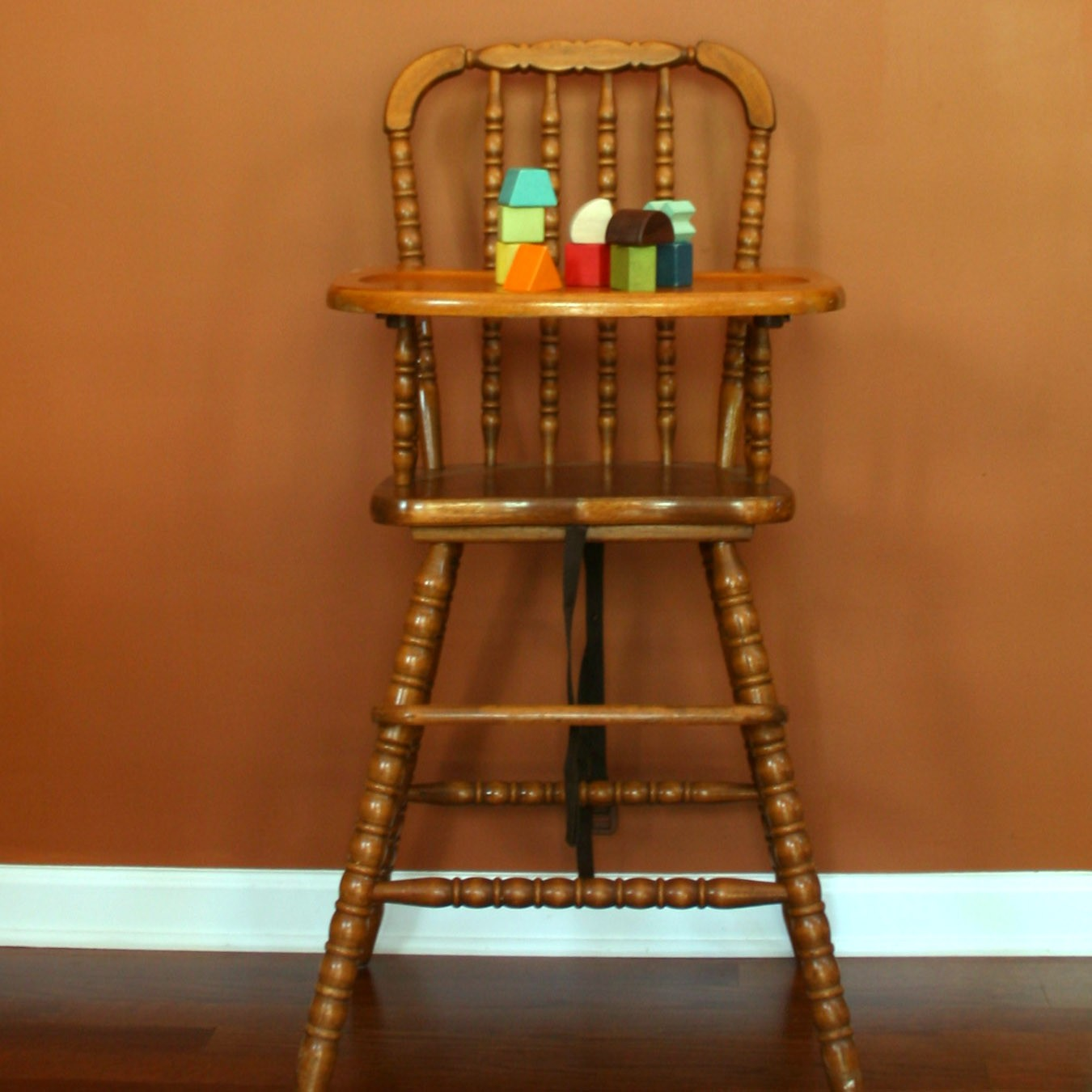 From an Etsy listing - I Love To Op Shop: Op Shop Bump Score - Vintage High Chair