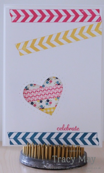 Stampin up Gingham Garden Washi tape Tracy May card making ideas