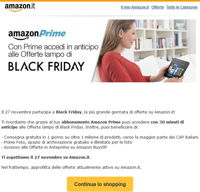Black Friday Amazon Italia Offerte 2015