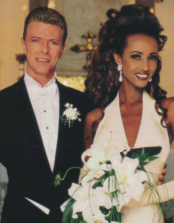 David Bowie and Iman Wedding
