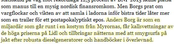 Tidningstext, Svenska Dagbladet.