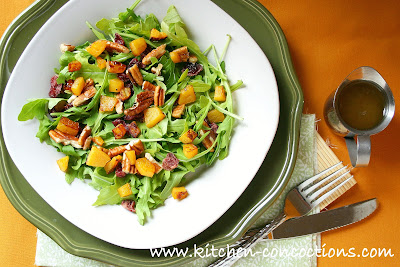 Roasted Butternut Squash Salad with Warm Cider Vinaigrette - Kitchen ...