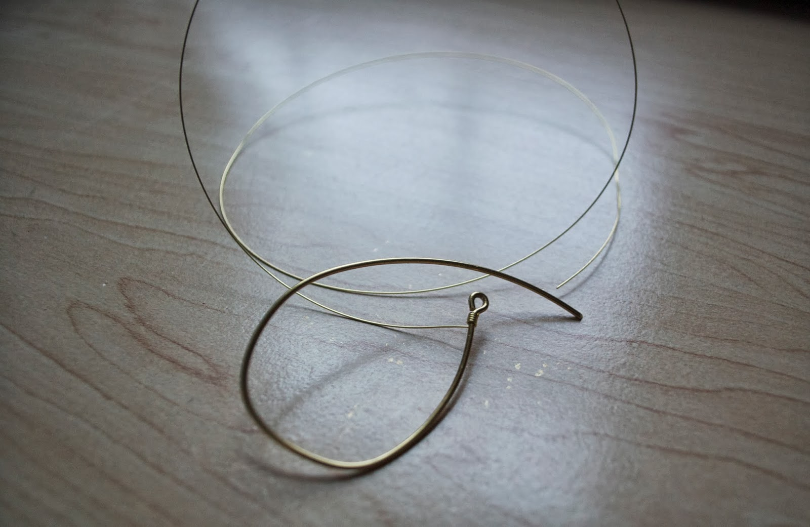 DIY Wire Wrapped Teardrop Earrings - My Girlish Whims